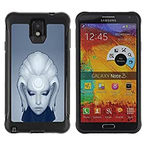 LASTONE PHONE CASE / Suave Silicona Caso Carcasa de Caucho Funda para Samsung Note 3 / Deep Sad Girl