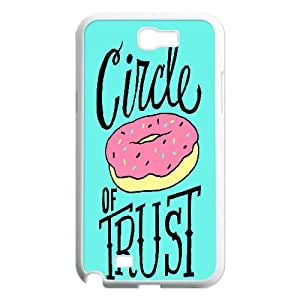 {Funny Quote Series} Samsung Galaxy Note 2 Case Typography Circle of Trust, Protection Cute Case Yearinspace - White