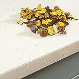 White Sparkle Gloss Effect Laminate Kitchen Worktops - Andromeda (ABS Worktop Edging Strip - 1500mm x 45mm)