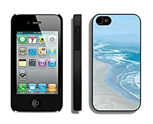 Elegant Apple Iphone 4s Case Durable Soft Silicone TPU Beautiful Beaches Coastline Black Cell Phone Case Cover Protector for Iphone 4