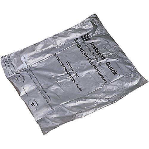 Barco ahora de sniqh20instapak rápido espuma ampliable bolsas, 18' x 18', de ancho, 45.7cm de largo, gris (42unidades)