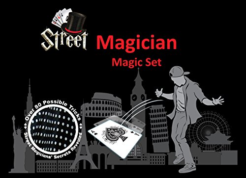Street Magician Magic Set – Over 80 Possible Tricks w/ Storage Bag