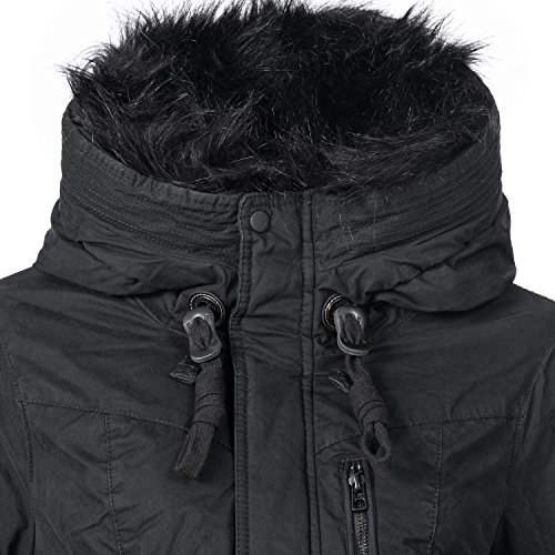 Khujo Khujo Abrigo para Mujer Negro Khujo Abrigo para Negro Mujer Abrigo fZOqAgw