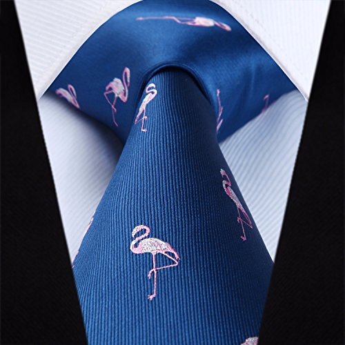 Blue Animal Navy Men's Patterns Set HISDERN Party amp; Handkerchief Square Necktie Wedding Pocket Tie SOWdWqn