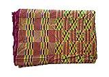 Hand Woven Kente Cloth Fabric 10ft x 7ft African Clothing Kenti Dashiki Toga Wrap