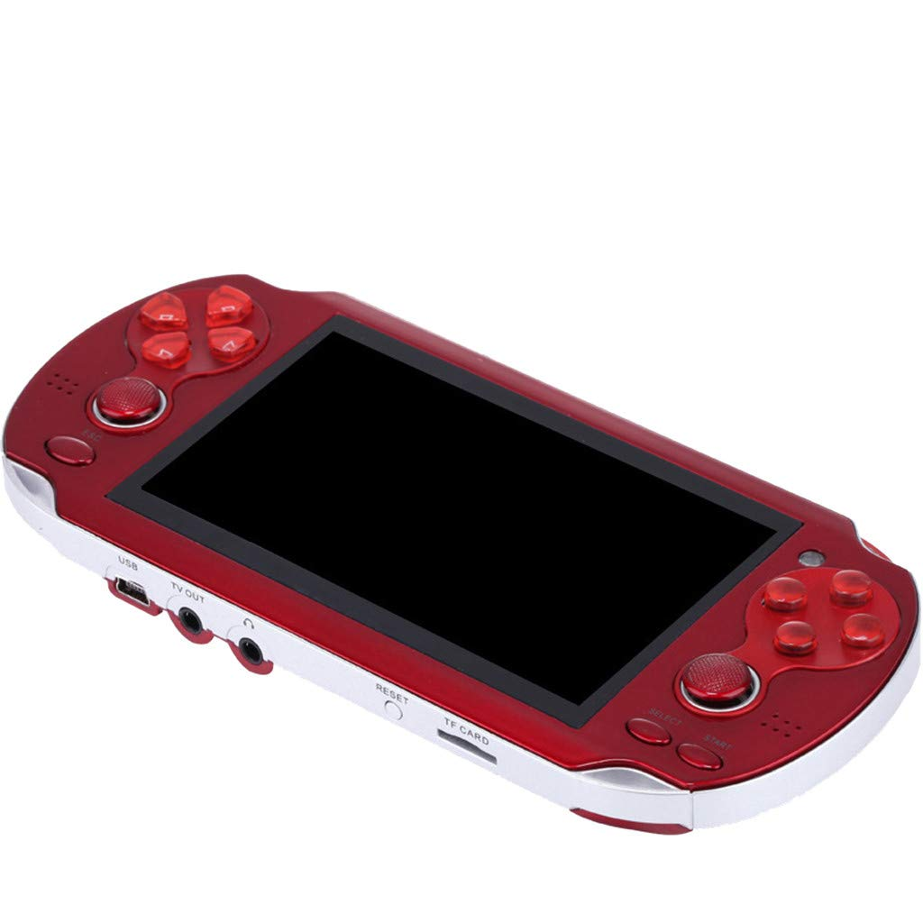 Huangou PSP Games,Retro Classic Game Console Handheld Portable 800 Built-in 4.3 Inch Games (Red, 11.5 x 8.5 x 9cm) by Huangou (Image #4)