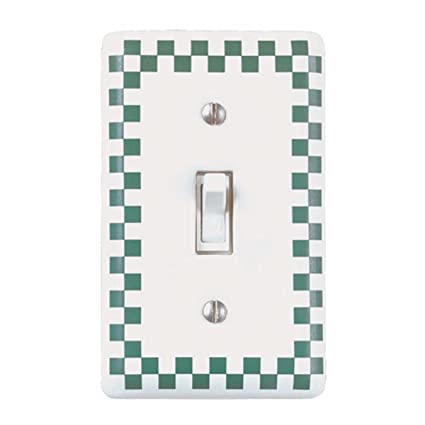 Switchplates Whitegreen Ceramic Single Toggle Switch Plate Outlet
