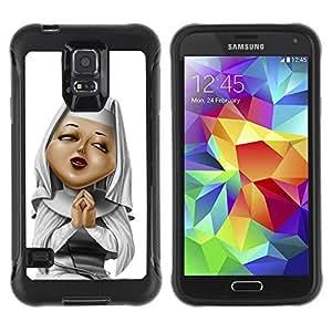 Hybrid Anti-Shock Defend Case for Samsung Galaxy S5 / Praying Nun
