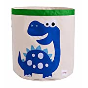 Storage Bin,Cube Hamper Box for Kids toys Animal Theme Decor Perfect for Baby Nursery(Blue dinosaur)
