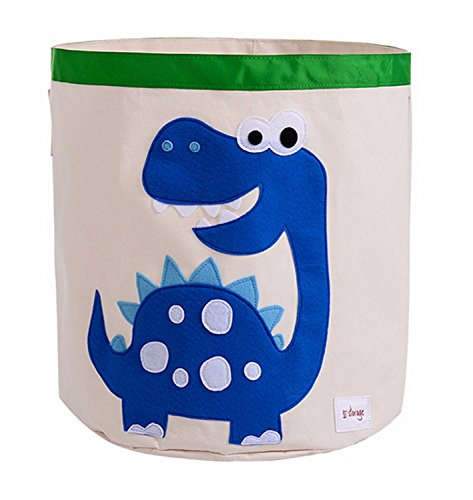 Storage Bin,Cube Hamper Box for Kids toys Animal Theme Decor Perfect for Baby Nursery(Blue dinosaur) from HIYAGO