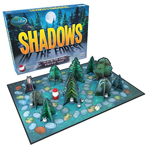 ThinkFun Shadows in the Forest Play in the Dark Board Game for Kids and Families Age 8 and Up - Fun and Easy to Learn with Innovative and Unique Gameplay -