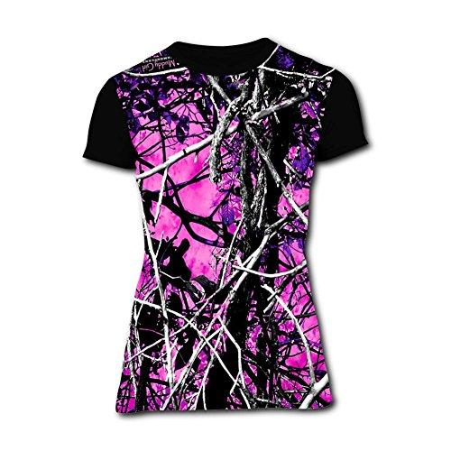 G.8.D Women Muddy Girl Camo Pink Soft T Shirts ()