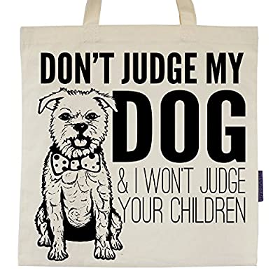 Don't Judge My Dog Eco-Friendly Tote Bag by Pet Studio Art