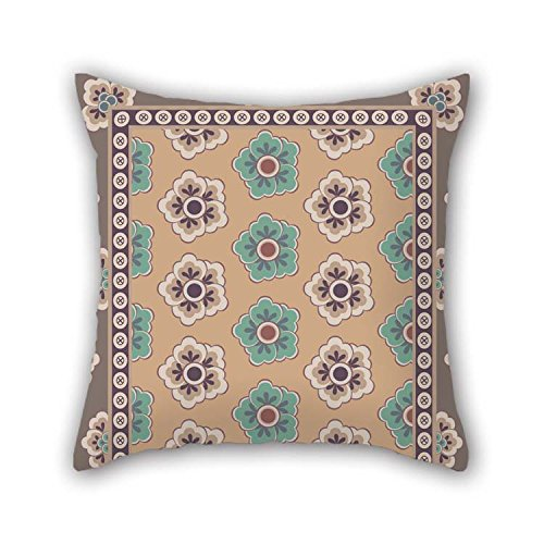 MaSoyy Bohemian Pillow Covers 16 X 16 Inches / 40 by 40 cm for Bedroom Drawing Room Him Teens Girls Sofa Him with Two Sides