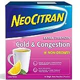 NeoCitran Extra Strength Cold and Sinus Powder, Natural Source Lemon