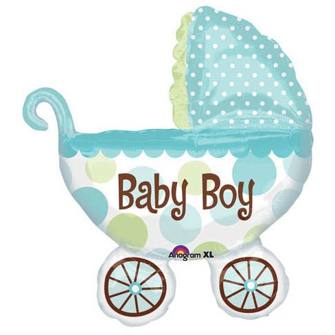 Anagram International Baby Buggy Boy Shape Foil, 31