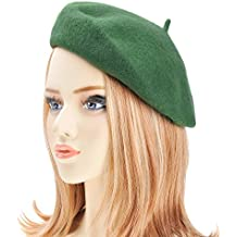 ZLYC Wool Beret Hat Classic Solid Color French Beret for Women