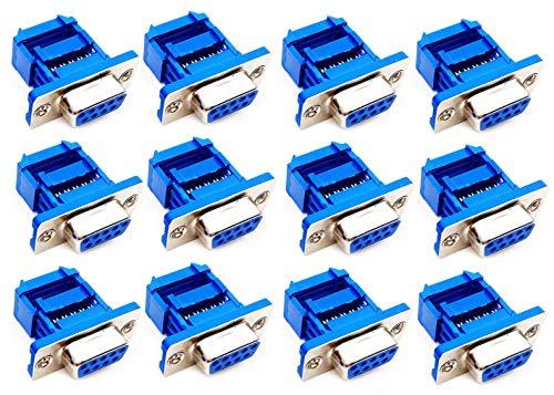 YXQ 12Pcs D-SUB DB9 9 Pin Female IDC Flat Ribbon Crimp Connectors Serial Port