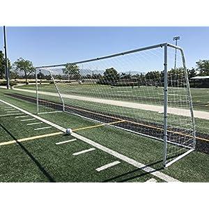 "Pass Premier 24x8 FT. Official Regulation Size Soccer Goal. Strongest Heavy Duty 2"" Diameter Rust & Corrosion Resistant Steel Frame w/Durable Weatherproof 4mm Net. ONE YEAR WARRANTY!"