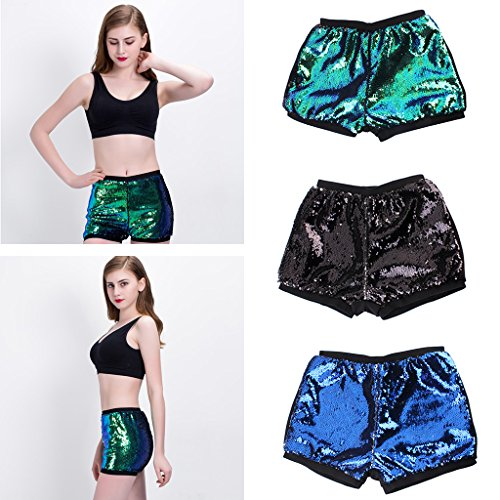 Blu Pantaloncini Bikini Estiva Da Argento Sequin Pantaloni Magideal Donne Spiaggia Short qPw7RR