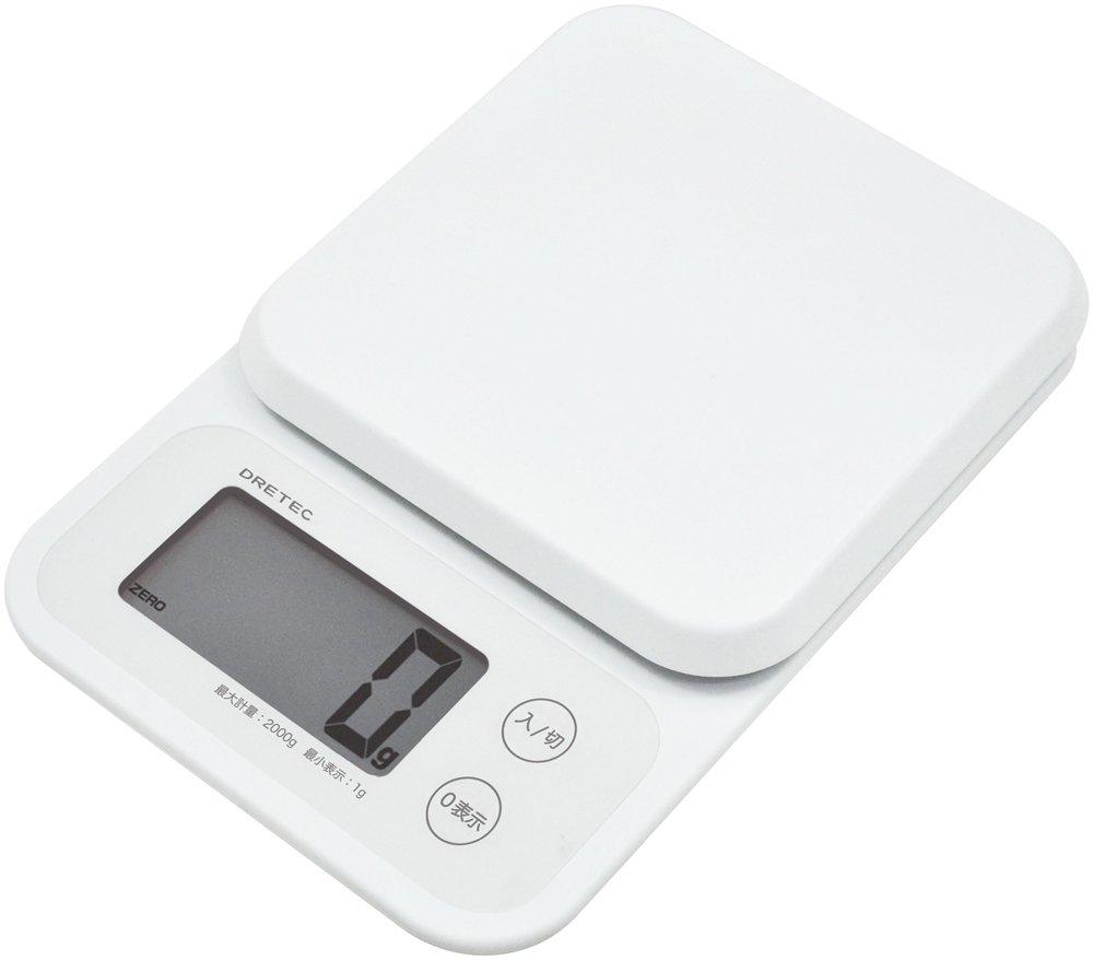 'Dretec scala digitale'mousse 2kg bianco ks-251wt (Japan Import)