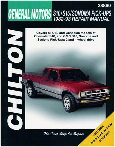 Chevrolet S10, S15 & Sonoma Pick-Ups, 1982-93 Technical Repair Manual