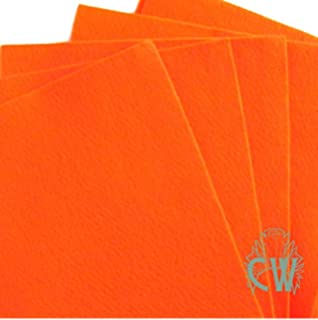"""Packs of 6 Sheets Craft Felt 9/""""x12/"""" 2mm Thick Approx A4 Single Colour Packs"""