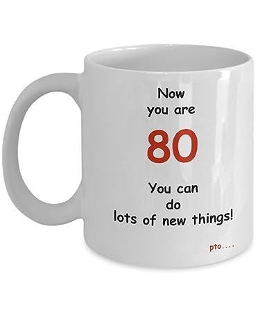 Amazon Com 80th Birthday Gift Mug Grandmother Grandfather Unique