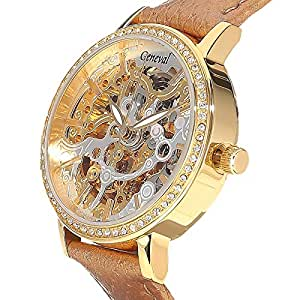 Geneval Casual Watch For Women Analog Leather - GLAS1712GWG