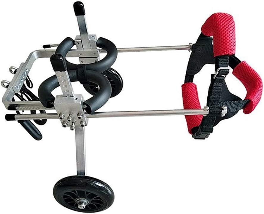 Hh001 Silla de Ruedas para Perros para la rehabilitación de piernas traseras Arnés de Movilidad para Perros Soporte Trasero Silla de Ruedas de Aluminio (Color : XXS)