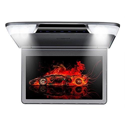 Roverone 11.6インチのフリップダウン車のTFTモニターHDMI SDのUSB IR FMスピーカー回転スクリーン高解像度のオーバーヘッドビデオ B077ZK71RJ グレー グレー
