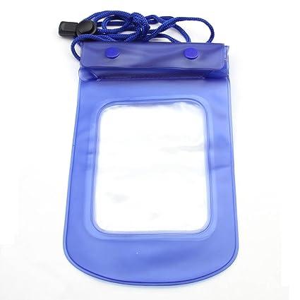 Amazon.com: Azul y 2 capa Bolsa estanca Caso transparente ...
