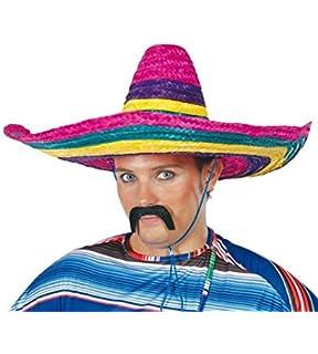 Guirca 13612 – Sombrero mexicano multicolor de paja acf4384c258