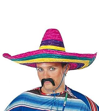 Guirca 13612 - Sombrero mexicano multicolor de paja b95ae1b3359