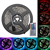 RECHING LED Strip Lights,5050 RGB TV Light,7 Ft (2.5M) 75LED,Roll Light Kit with 44 Keys Remote Controller and Power Supply,Multi-Color Lighting for Holiday Party/House/Garden Decorator-Waterproof