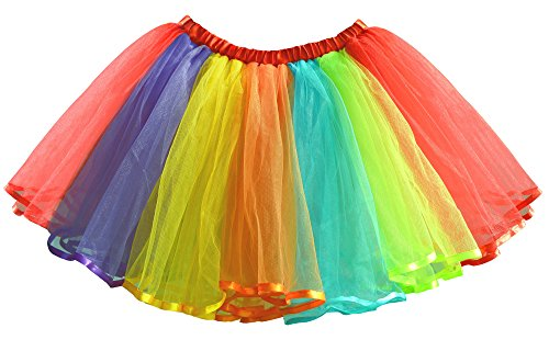 Dancina Cute Rainbow Tutu for Fun Runs Long 16.5