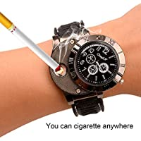 Ckeyin ® Sporty wristwatch Quartz Watches Collectable Butane Cigarette Cigar Lighter with USB Electronic Rechargeable...