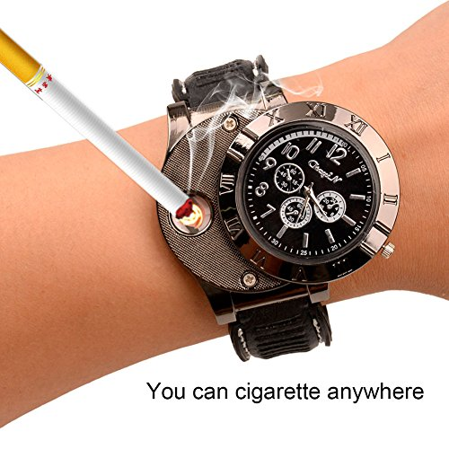 ckeyin-r-sporty-wristwatch-quartz-watches-collectable-butane-cigarette-cigar-lighter-with-usb-electr