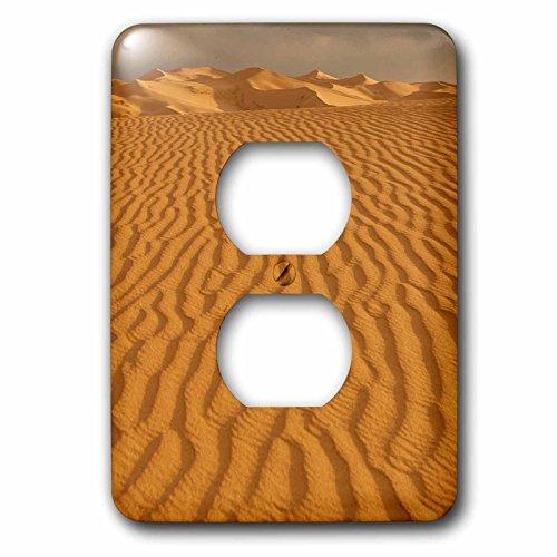 3dRose Danita Delimont - Deserts - Rippling patterns in the Sand Dunes. Gobi Desert. Mongolia. - Light Switch Covers - 2 plug outlet cover - Outlet Els