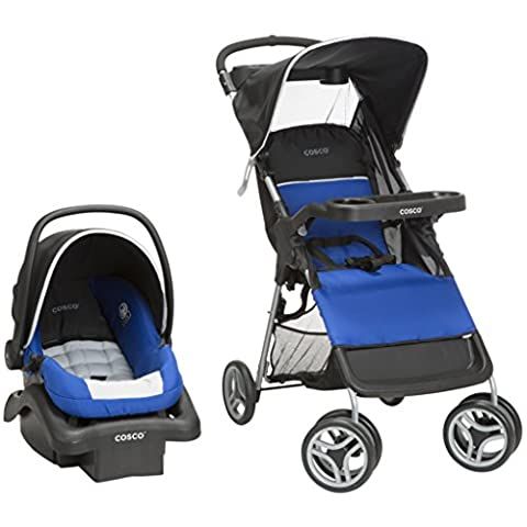 Cosco Lift & Stroll Travel System - Car Seat and Stroller – Suitable for Children Between 4 and 22 Pounds, Blue, Colorblock Surf The - Cosco Car Seat Base