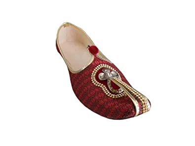 Traditional Handmade Wedding Men Shoes Groom Khussa Flip-Flops Flat