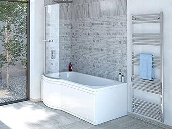 Duschbadewanne 160  Duschbadewanne 170x85 cm L mit Badewannenaufsatz - Badewanne mit ...