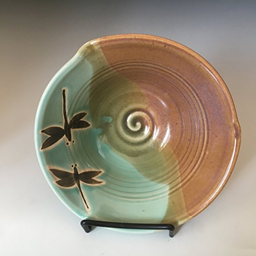 Colorado Pottery (Pottery Dragonfly Serving Bowl, Stoneware Cereal Bowl, Pottery Rice Bowl, Gift for Her.)