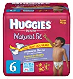 Huggies Natural Fit Diapers, Size 6, 44-Count (Pack of 2)