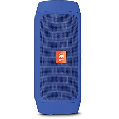 JBL Charge 2+ Splashproof Portable Bluetooth Speaker (Blue) (Certified Refurbished)