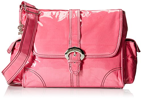Kalencom Laminated Buckle Bag, Hot Pink Corduroy