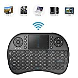 2.4GHz Mini Mobile Wireless Keyboard with Touchpad, Remote Control with Rechargable Li-ion Battery for Bush 4K 43'