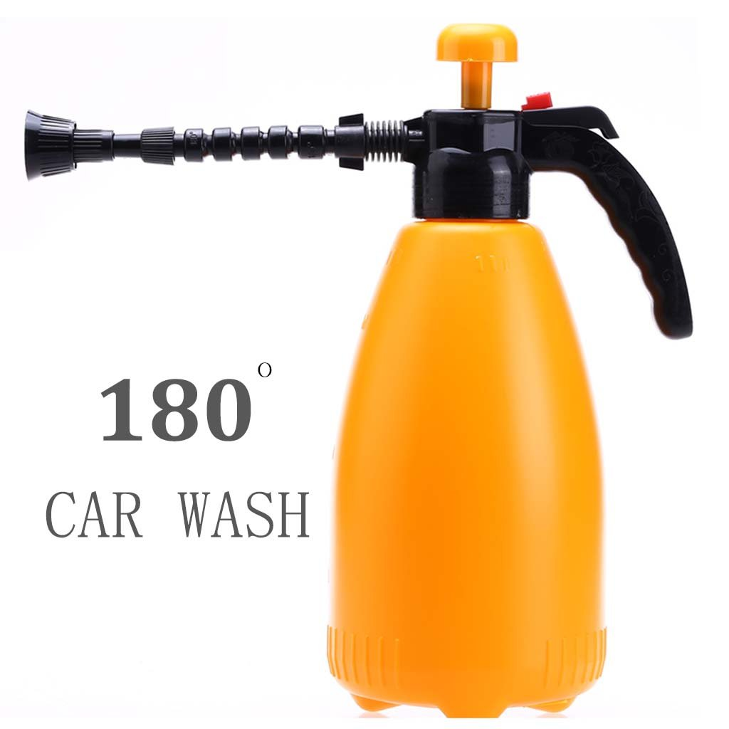 Car wash supplies Roscloud@ Watering Cans 3 L Yellow Environmental Protection Plastic Making Gardening Indoor Spray Bottle CAR WASH Wash Glass Bubble Sprayer (Color : Yellow)
