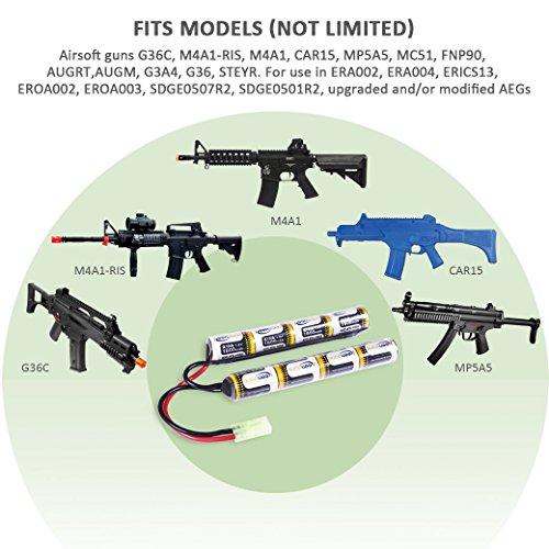 Keenstone-Upgrade-96V-NiMH-1600mAh-Butterfly-Nunchuck-Stick-Mini-Battery-Pack-w-Mini-Tamiya-Connector-High-Discharge-Platform-for-Airsoft-Guns-ICS-CA-TM-SRC-JG-G36-GM733-etc