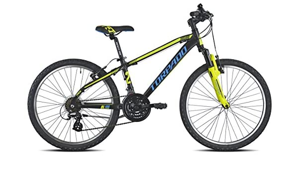 TORPADO Bicicleta 605 MTB Junior Jaguaro 24 3 x 7 V Negro/Amarillo ...